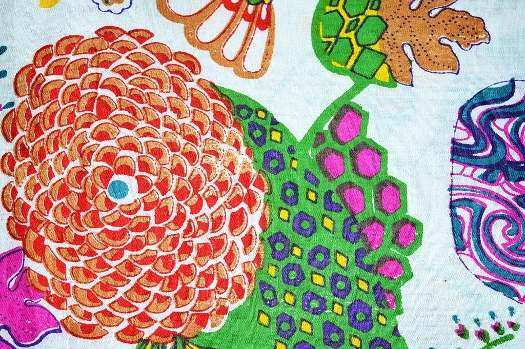 Floral & Fruit Design Printed 44 Inch Wide Running Fabric