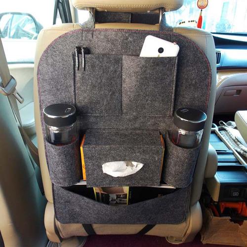 Auto Car Storage Bag Car Seat Multi Pocket Travel Storage Felt Bag