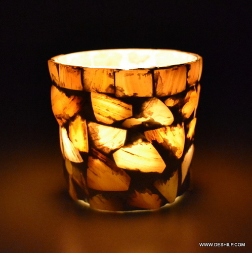 Seap Glass Candle Holder Traditional Indian Designer Home Decorative