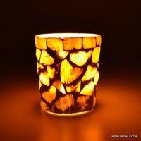 GLASS DECOR ROUND SHAPE CANDLE HOLDER