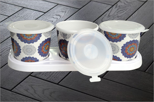 3 Piece melamine Jar Set
