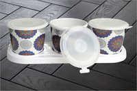 3 Piece melamine Jar Set
