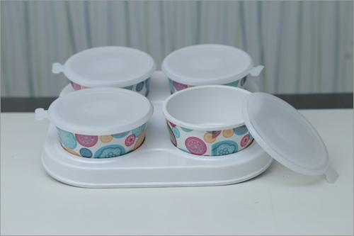 4 Piece Plastic Jar Sets