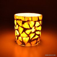 Seap Glass Candle Holder Traditional Indian Designer