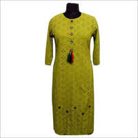 Ladies Embroidered Cotton Kurti