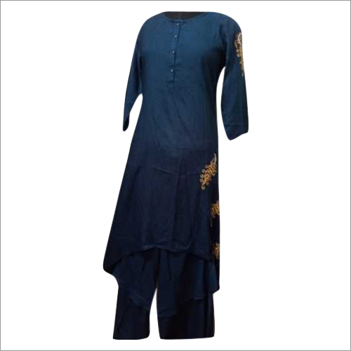 Ladies Embroidered Rayon Kurti