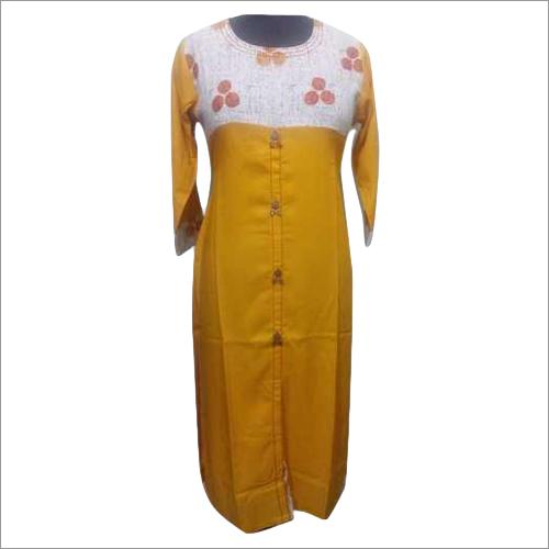 Ladies Long Rayon Kurti