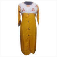 Ladies Long Rayon Kurti