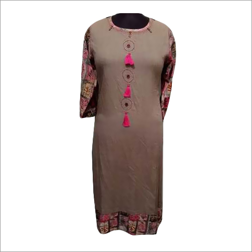 Ladies Designer Long Rayon Kurti