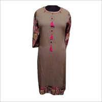 Ladies Designer Long Rayon Kurti
