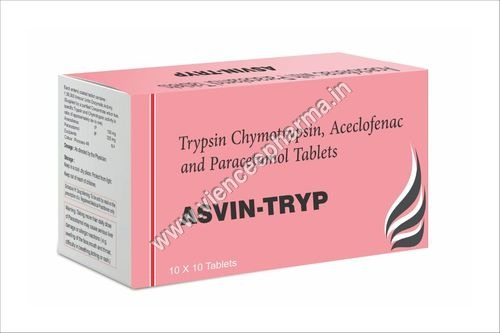 Trypsin Chymotrypsin, Aceclofenac and Paracetamol Tablets