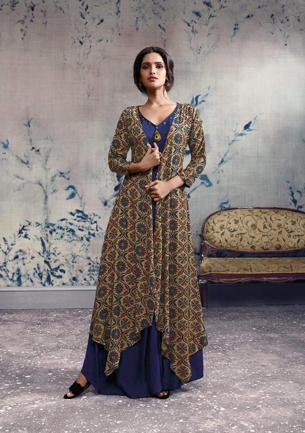 Stylish Long Dress Rayon Fabric