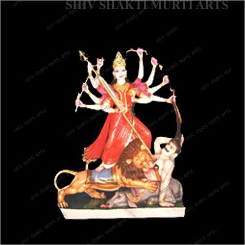 Marble Polished Durga Statue