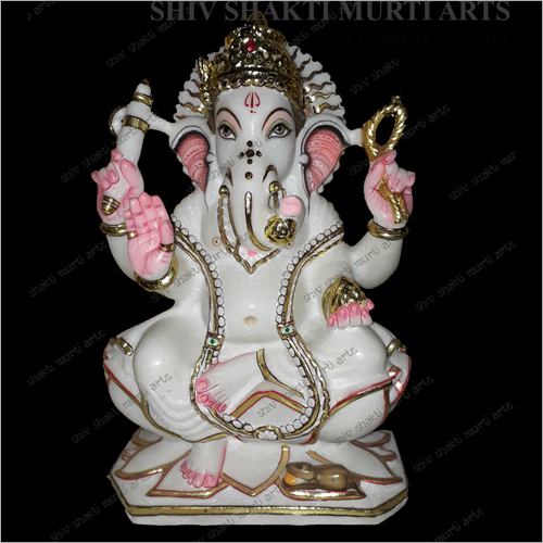Marble Lord Ganesha Polished Statue
