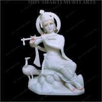 Marble Lord Krishna Statue