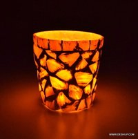 SMALL GLASS T LIGHT CANDLE VOTIVE