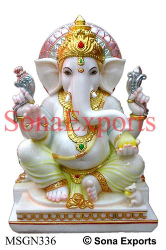 Ganesh Murti of White marble manufacturer