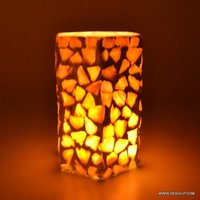LONG GLASS SEAP CANDLE HOLDER