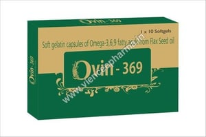 Soft Gelatin Capsules of Omega 3,6,9 Fatty Acids From Flax Seed Oil