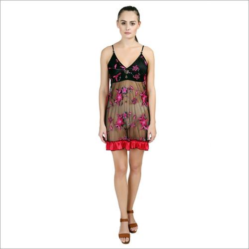 Designes Two Piece Pink Nightdress