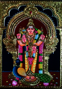 Tanjore Paintings  Lord Murugan