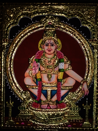 Tanjore Paintings Lord Iyappan