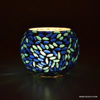 DECOR DESIGN GLASS MOSAIC CANDLE