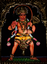 Tanjore Paintings Lord Hanuman