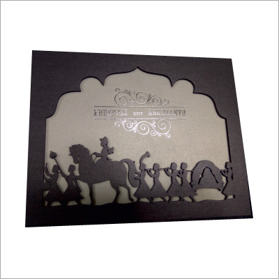 Wooden Wedding Card