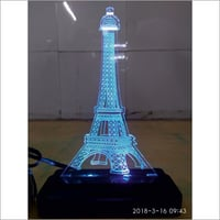 3D LED Eiffel Tower Shape Lamp