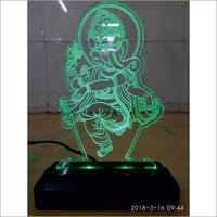 3D LED Ganesh Statue With Stand