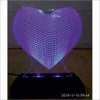 3D LED Heart With Stand