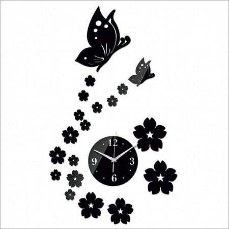 Acrylic Butterfly Wall Clock