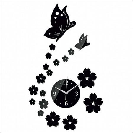 Acrylic Butterfly Wall Clock