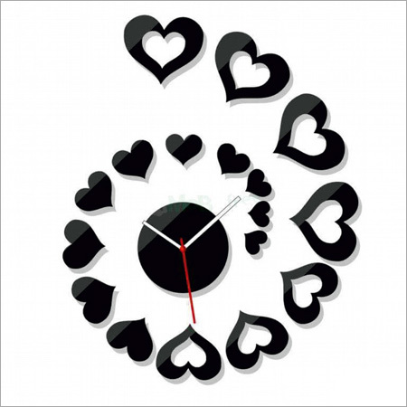 Acrylic Heart Wall Clock