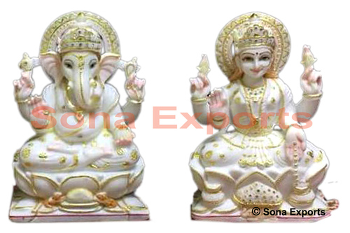 Marble Ganesha Laxmi Statue Jaipur