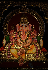 Tanjore Paintings Lord Ganesh