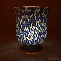 DECOR SHAPE AND ANTIQUE DESIGN GLASS CANDLE HOLDER