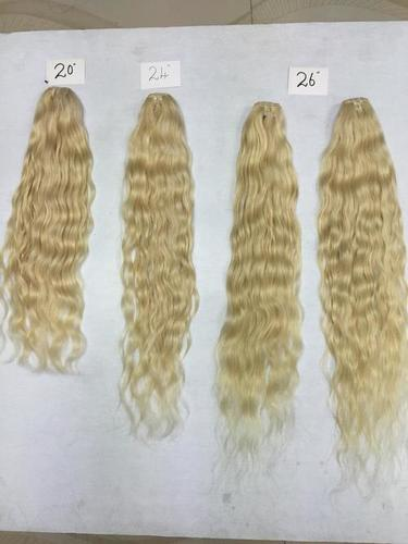 Blonde Hair Weft Natural Wave