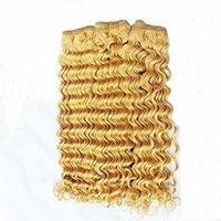 Blonded Curly Hair Weft
