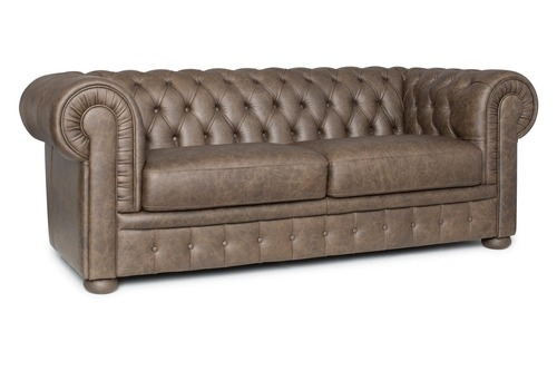 Button Leather Sofa