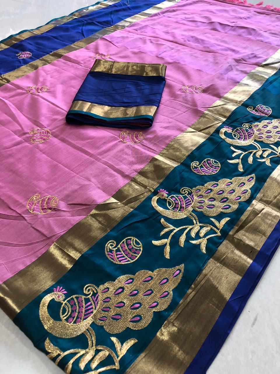 Ethnic Rich Cotton Silk Sarees