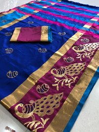 Ethnic Rich Cotton Silk Sarees