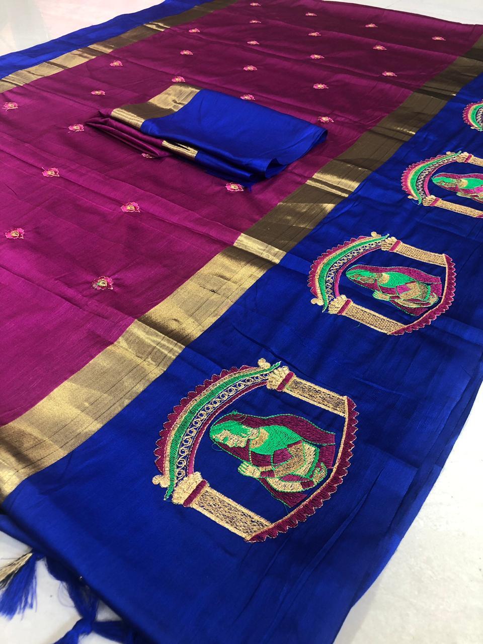 Designer Elegent Cotton Silk Saree