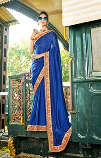 Exclusive Embroidered Border Silk Saree