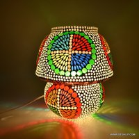 Mosaic Colorful Design Mosaic Table Glass Lamp