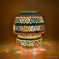 Handcrafted Colourful Design Mosaic Table lamp