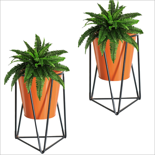 Geometric  Metal Bucket Planter