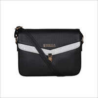 Black Color Medium Size Glitter Sling Bag
