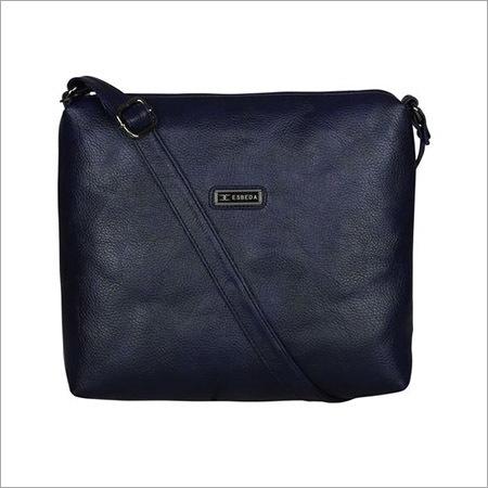 Ladies Navy Blue Sling Bag